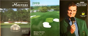 2008 Masters Media Guide, Journal (Program), Players Guide and Sunday Pairings Sheet