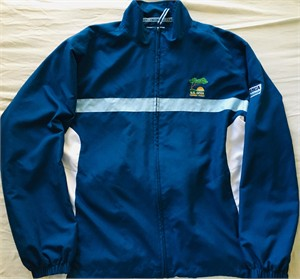 2008 U.S. Open Torrey Pines blue and white volunteer Ashworth golf wind jacket