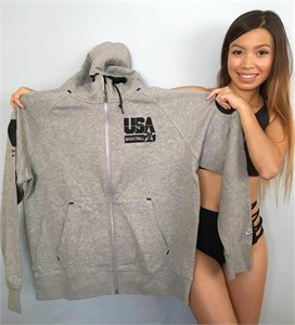 1992 USA Olympic Basketball Dream Team 20th Anniversary Nike gray hooded sweatshirt (hoodie) NEW WITH TAGS