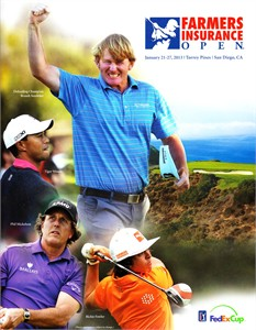 2013 Farmers Insurance Open program & pairings guide MINT (Tiger Woods 75th PGA Tour Win)