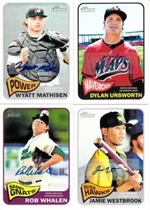 2014 Topps Heritage lot of 4 certified autograph cards