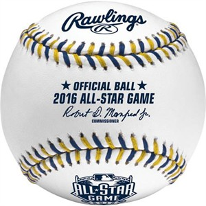 2016 MLB All-Star Game official Rawlings baseball (Eric Hosmer MVP)