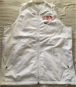 2016 U.S. Olympic Team authentic Nike white men's 2XL vest jacket BRAND NEW