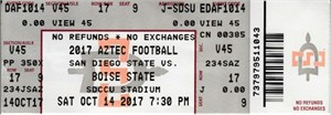 2017 Boise State Broncos at San Diego State Aztecs football full ticket