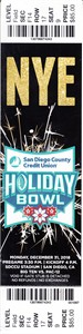 2018 Holiday Bowl college football game full ticket (Northwestern 31 Utah 20)