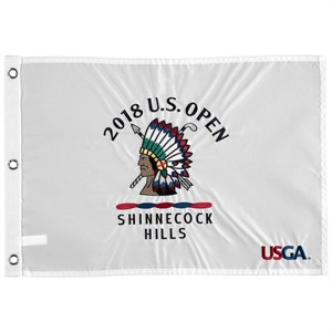 2018 U.S. Open Shinnecock Hills embroidered golf pin flag (Brooks Koepka wins second straight title)