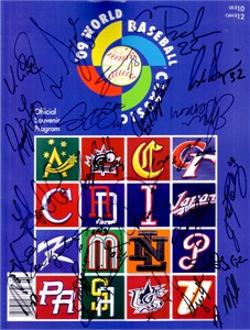 2009 Mexico autographed World Baseball Classic program Adrian Gonzalez