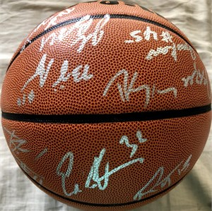 2005-06 UConn Huskies Elite 8 team autographed NCAA basketball Jim Calhoun Hilton Armstrong Josh Boone Rudy Gay A.J. Price
