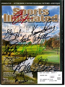 2008 US Ryder Cup Team autographed Sports Illustrated (Paul Azinger Phil Mickelson)