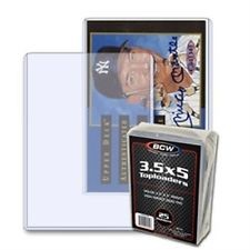 3 1/2 x 5 inch card or photo topload plastic display holders (pack of 25)
