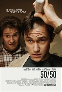 50/50 mini movie poster (Joseph Gordon-Levitt & Seth Rogen)