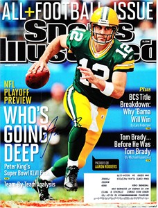 Aaron Rodgers autographed Green Bay Packers 2012 Sports Illustrated