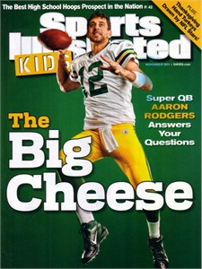 Aaron Rodgers Green Bay Packers 2011 Sports Illustrated for Kids magazine