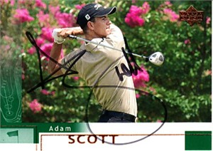 Adam Scott autographed 2002 Upper Deck golf card