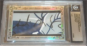 Adrian Gonzalez certified autograph 2012 Leaf Executive Masterpiece Cut Signature card #1/1