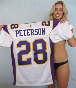 Adrian Peterson Minnesota Vikings authentic Reebok white stitched jersey (2006-2011 style)