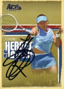 Ai Sugiyama autographed 2006 Ace Authentic tennis card