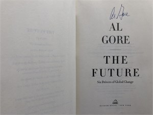 Al Gore autographed Truth to Power softcover book