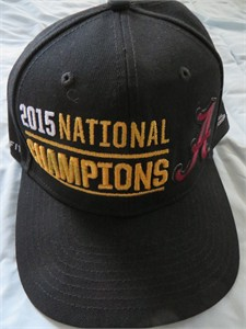 Alabama Crimson Tide 2015 National Champions official Nike locker room cap or hat