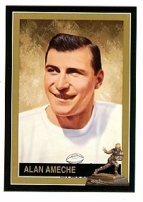 Alan Ameche Wisconsin 1954 Heisman Trophy winner card