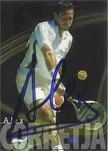 Alex Corretja autographed 2000 ATP Tour tennis card