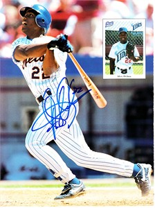 Alex Ochoa autographed New York Mets Beckett magazine back cover photo