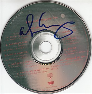Alice Cooper autographed The Last Temptation CD