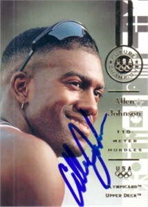 Allen Johnson autographed 1996 Upper Deck U.S. Olympic card