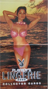 Alley Baggett autographed Playboy Lingerie centerfold poster inscribed With Love & Kisses!