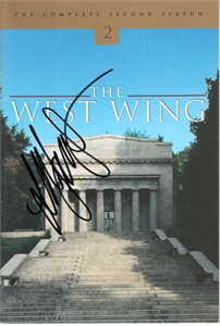 Allison Janney autographed The West Wing DVD booklet