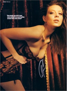 Amber Benson autographed Maxim magazine sexy full page photo