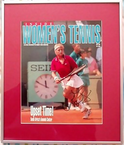 Amanda Coetzer autographed Women's Tennis magazine cover matted & framed