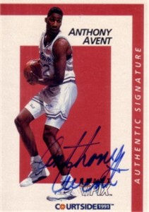 Anthony Avent certified autograph Seton Hall 1991 Courtside card