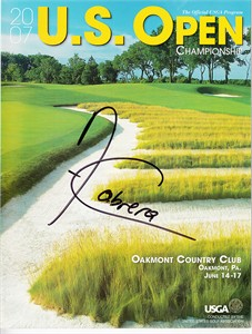 Angel Cabrera autographed 2007 U.S. Open golf program