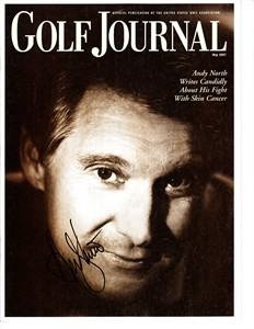 Andy North autographed 1997 Golf Journal magazine