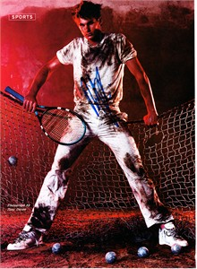Andy Roddick autographed tennis magazine full page photo