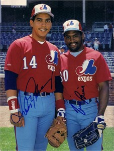 Andres Galarraga & Tim Raines autographed Expos Beckett Baseball photo