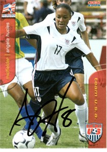 Angela Hucles autographed 2004 U.S. Soccer card like element