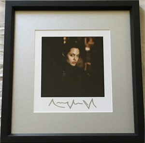 Angelina Jolie autographed portrait photo matted and framed (JSA Auction LOA)