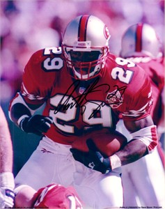 Anthony Lynn autographed 8x10 San Francisco 49ers photo