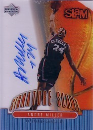 Andre Miller certified autograph Cleveland Cavaliers Upper Deck Slam card