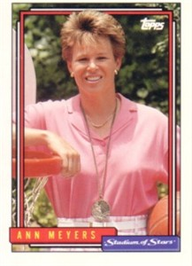 Ann Meyers Drysdale 1992 Topps Stadium of Stars promo card