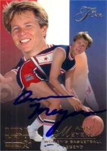 Ann Meyers autographed USA Basketball 1994 Flair card