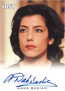 Anne Bedian Lost certified autograph card