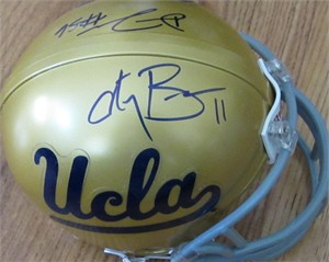Anthony Barr & Datone Jones autographed UCLA Bruins mini helmet
