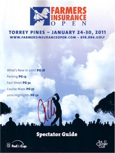 Anthony Kim autographed 2011 Farmers Insurance Open program