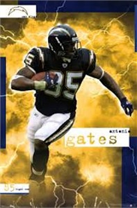 Antonio Gates San Diego Chargers 2005 Costacos Brothers 23x35 poster