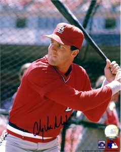 Andy Van Slyke autographed St. Louis Cardinals 8x10 photo