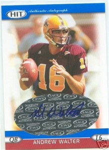 Andrew Walter certified autograph Arizona State 2005 SAGE HIT card