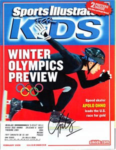 Apolo Anton Ohno autographed 2006 Winter Olympics Preview Sports Illustrated for Kids magazine